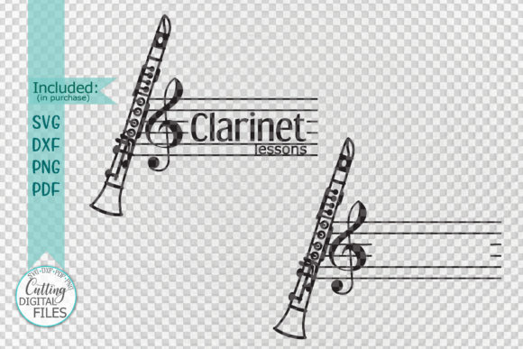Download Free Clarinet Monogram Cutting Template Graphic By Cornelia for Cricut Explore, Silhouette and other cutting machines.