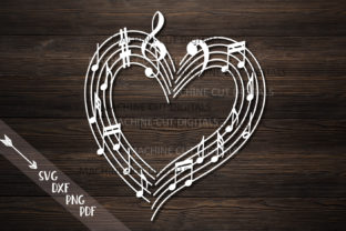 Musical Heart with Music Notes Svg Laser Graphic By Cornelia