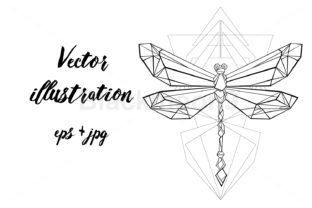 Download Free Polygonal Dragonfly Graphic By Blackmoon9 Creative Fabrica for Cricut Explore, Silhouette and other cutting machines.