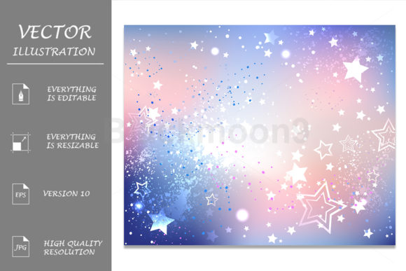 Iridescent Pink Quartz and Serenity Graphic Backgrounds By Blackmoon9