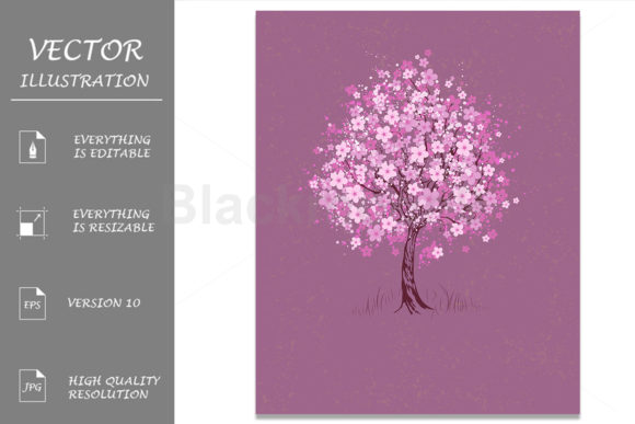 Cherry on Pink Background Graphic Illustrations By Blackmoon9