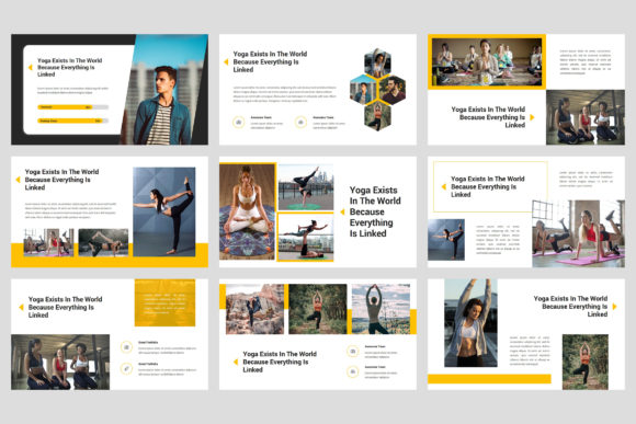 Lauren - Yoga PowerPoint Graphic Presentation Templates By StringLabs - Image 4