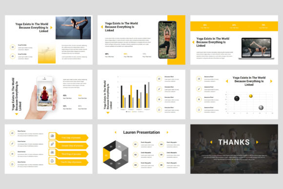 Lauren - Yoga PowerPoint Graphic Presentation Templates By StringLabs - Image 5