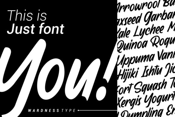 Print on Demand: Wardness Display Font By Garisman Studio - Image 5