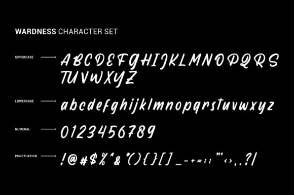 Print on Demand: Wardness Display Font By Garisman Studio - Image 7