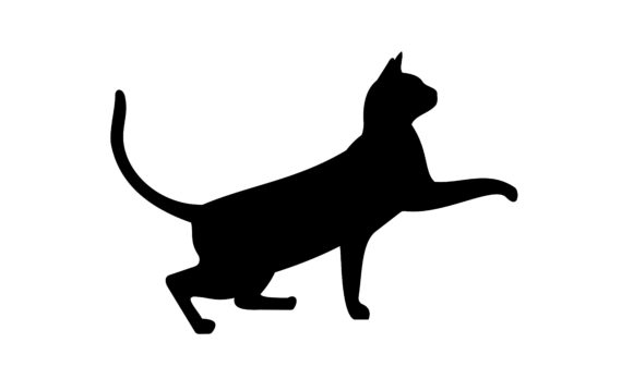 Black Cat Silhouette, Cat Logo Vector Graphic Logos By DEEMKA STUDIO