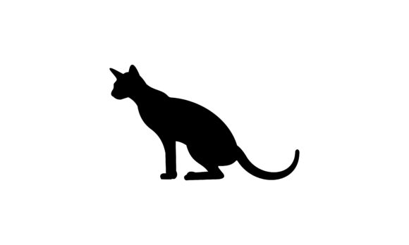 Download Free Black Cat Silhouette Cat Logo Vector Graphic By Deemka Studio for Cricut Explore, Silhouette and other cutting machines.