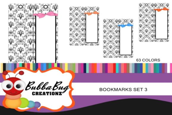 Bookmarks Set 3 Graphic Crafts By BUBBABUG - Image 1