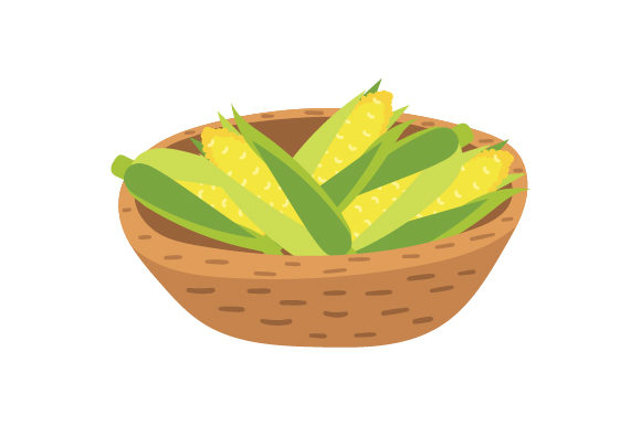 Basket of Corn Thanksgiving Craft Cut File By Creative Fabrica Crafts