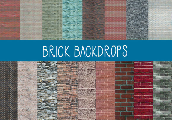 Print on Demand: Brick Backdrops Graphic Patterns By CapeAirForce