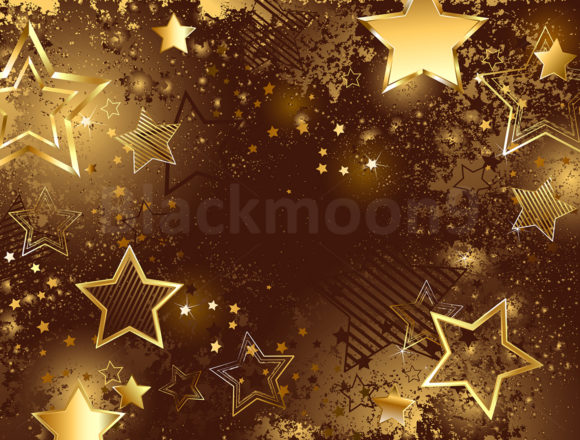 Download Free Brown Background With Golden Stars Graphic By Blackmoon9 for Cricut Explore, Silhouette and other cutting machines.