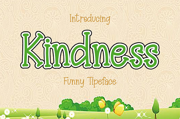 Kindness Display Font By Bluestype Studio