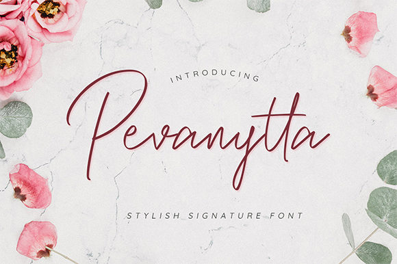 Print on Demand: Pevanytta Script Script & Handwritten Font By Bluestype Studio - Image 1