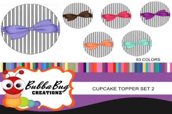 Cupcake Toppers Set 2 Graphic By BUBBABUG
