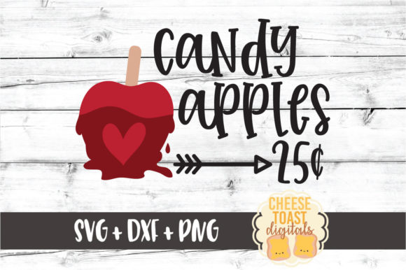 Download Free Candy Apples 25 Cents Graphic By Cheesetoastdigitals Creative for Cricut Explore, Silhouette and other cutting machines.