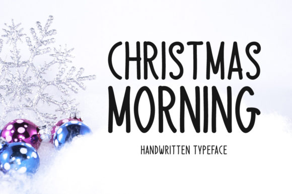 Print on Demand: Christmas Morning Script & Handwritten Font By Instagram Fonts
