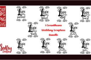 Download Free 1st Corinthians Scripture Wedding Bundle Graphic By Sedley for Cricut Explore, Silhouette and other cutting machines.