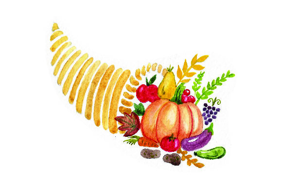 Cornucopia Watercolor Thanksgiving Craft Cut File By Creative Fabrica Crafts