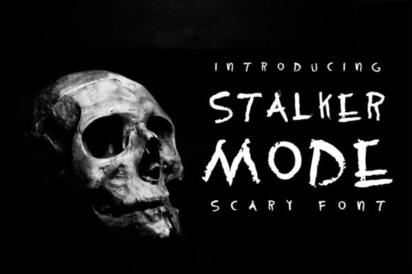 Print on Demand: Stalker Mode Display Font By arausidp - Image 1