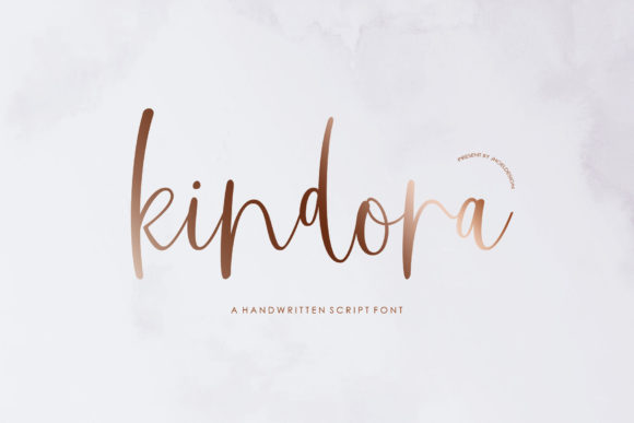 Print on Demand: Kindora Script Script & Handwritten Font By JhoelDesign