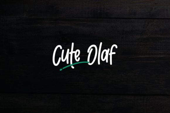 Download Free Cute Olaf Font By Dani 7ntypes Creative Fabrica for Cricut Explore, Silhouette and other cutting machines.