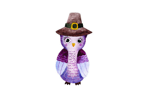 Cute Owl Wearing Pilgrim Hat Watercolor Thanksgiving Craft Cut File By Creative Fabrica Crafts