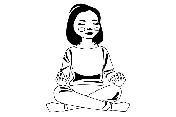 Download Free Cute Asian Girl Meditating Svg Cut File By Creative Fabrica Crafts Creative Fabrica for Cricut Explore, Silhouette and other cutting machines.