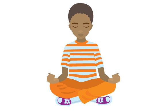 Download Free Cute Black Boy Meditating Svg Cut File By Creative Fabrica for Cricut Explore, Silhouette and other cutting machines.