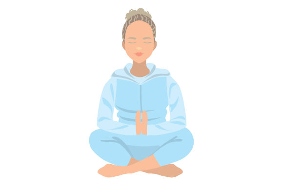 Download Free Cute Blonde Girl Meditating Svg Cut File By Creative Fabrica for Cricut Explore, Silhouette and other cutting machines.