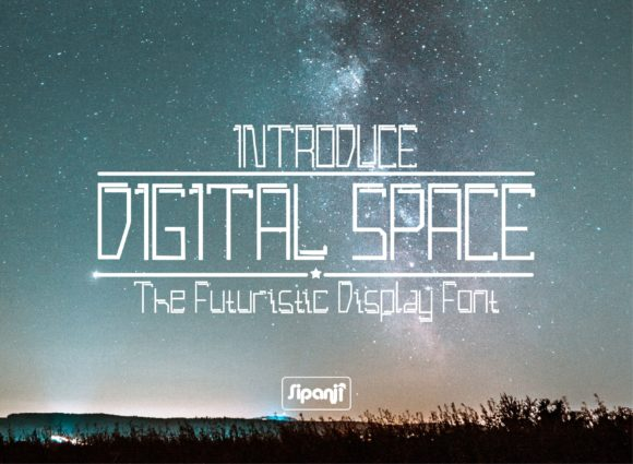 Print on Demand: Digital Space Sans Serif Font By sipanji figuree