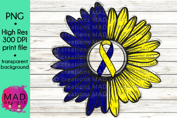 Down Syndrome Awareness Sunflower Graphic Crafts By maddesigns718