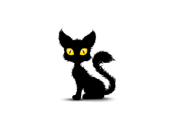 Download Free Black Cat Graphic By Myskin Art Creative Fabrica for Cricut Explore, Silhouette and other cutting machines.