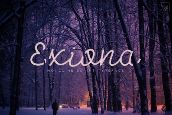 Print on Demand: Exiona Script & Handwritten Font By Lovoos