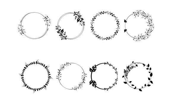 Graphic Circle Frames. Wreaths Logo Graphic Logos By 2qnah