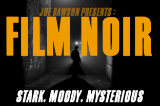 Print on Demand: Film Noir Sans Serif Font By Joe Dawson
