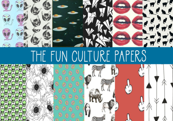 Print on Demand: The Fun Culture Papers Graphic Patterns By capeairforce - Image 1