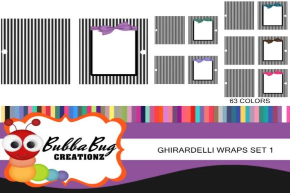 Ghirardelli Wraps Set 1 Graphic Crafts By BUBBABUG