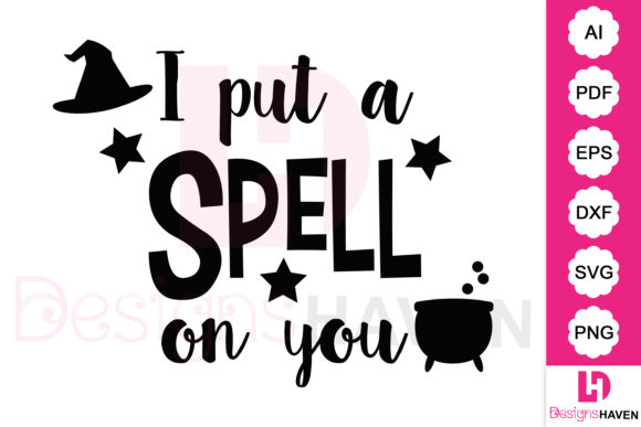 Print on Demand: I Put a Spell on You Halloween Clip Art Graphic Illustrations By DesignsHavenLLC