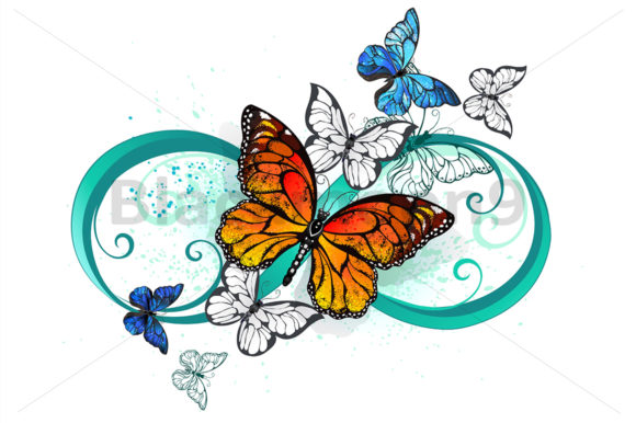 Download Free Flying Contour Butterflies Graphic By Blackmoon9 Creative Fabrica for Cricut Explore, Silhouette and other cutting machines.