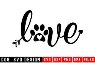 Print on Demand: Dog Paw Love Graphic Crafts By Designdealy