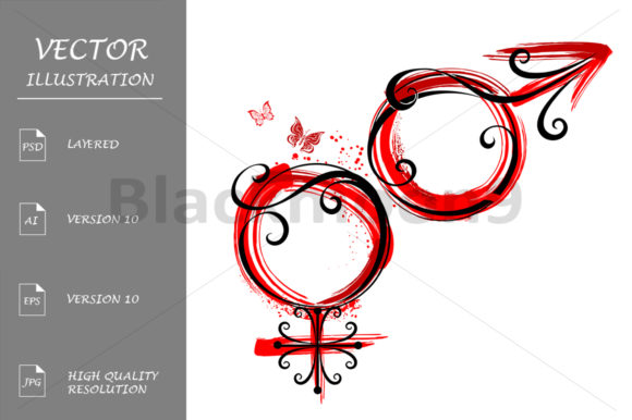 Download Free Male And Female Symbol Graphic By Blackmoon9 Creative Fabrica for Cricut Explore, Silhouette and other cutting machines.