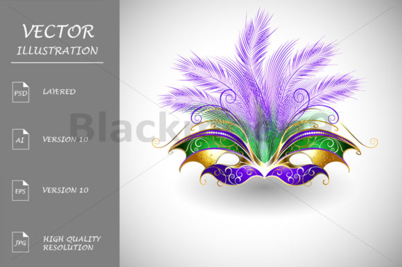 Download Free Mask Mardi Gras Graphic By Blackmoon9 Creative Fabrica for Cricut Explore, Silhouette and other cutting machines.