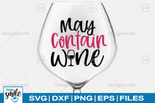 May Contain Wine SVG Graphic By DesignSmile