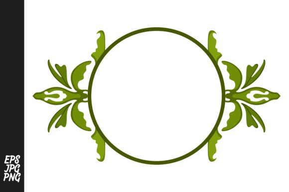 Print on Demand: Green Ornament Monogram Graphic Illustrations By Arief Sapta Adjie