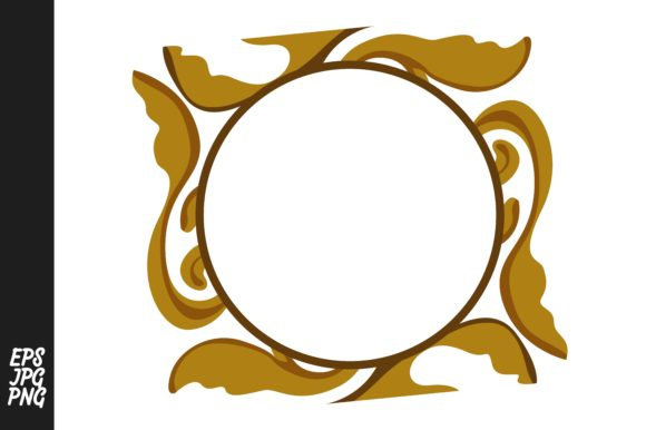 Download Free Gold Ornament Monogram Graphic By Arief Sapta Adjie Creative for Cricut Explore, Silhouette and other cutting machines.