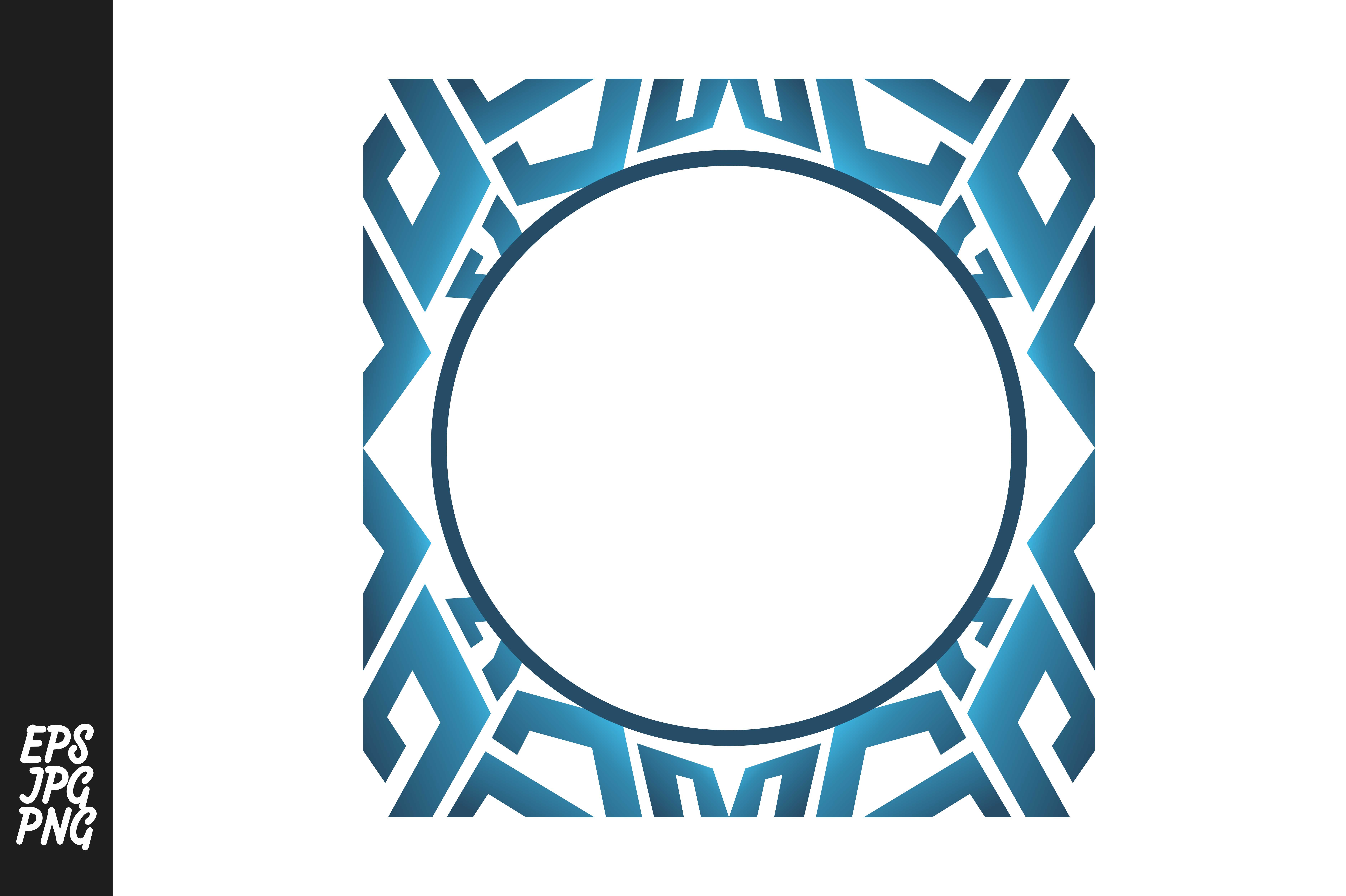 Download Free Blue Ornament Monogram Bundle Graphic By Arief Sapta Adjie for Cricut Explore, Silhouette and other cutting machines.