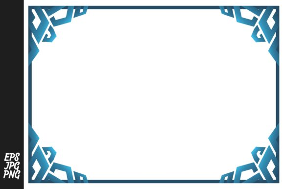 Print on Demand: Blue Ornament Border Bundle Graphic Illustrations By Arief Sapta Adjie