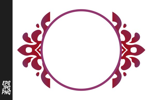 Download Free Red Ornament Monogram Graphic By Arief Sapta Adjie Creative for Cricut Explore, Silhouette and other cutting machines.