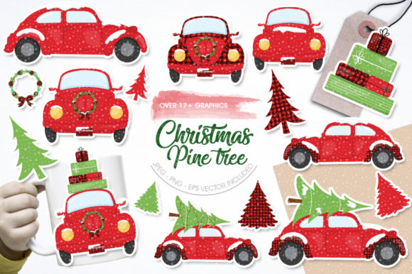 Print on Demand: Christmas Pine Tree Graphic Illustrations By Prettygrafik - Image 1