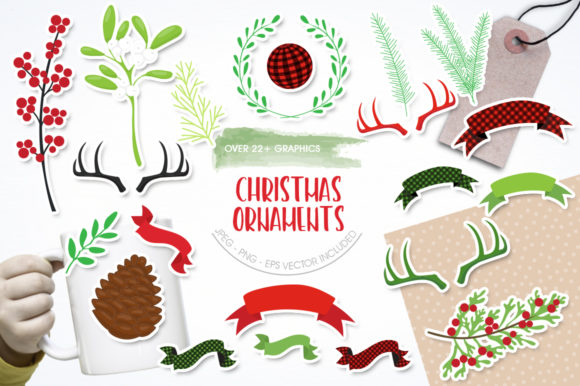 Download Free Christmas Ornament Graphic By Prettygrafik Creative Fabrica for Cricut Explore, Silhouette and other cutting machines.